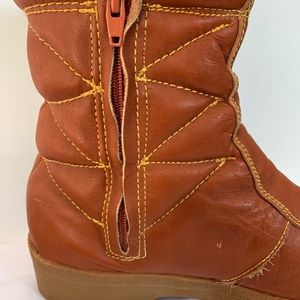 Vintage Shoes 70s Florsheim Leather Puffy Moon Boots Poshmark